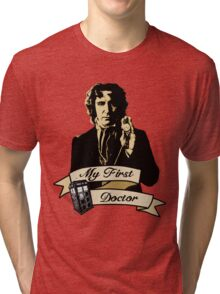 Doctor Who - My first Doctor (Who) eighth 9th Paul McGann Tri-blend T-Shirt