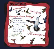 Hummingbird Nectar Recipe Kids Tee