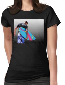 Heading for the Surf Womens Fitted T-Shirt