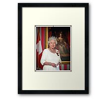 The Queen in Canada Framed Print