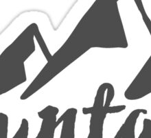 Mountains, Outdoor, Camping, Hiking Sticker