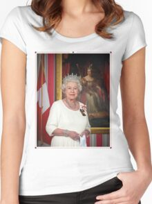 The Queen in Canada Women's Fitted Scoop T-Shirt