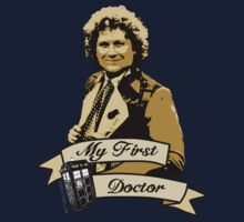 Doctor Who - My first Doctor (Who) sixth 6th Colin Baker Baby Tee