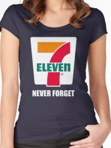 7 11 never forget Women's Fitted Scoop T-Shirt