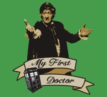 Doctor Who - My first Doctor (Who) Third 3rd Jon Pertwee Baby Tee