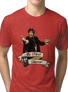 Doctor Who - My first Doctor (Who) Third 3rd Jon Pertwee Tri-blend T-Shirt