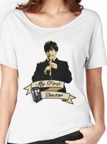 Doctor Who - My first Doctor (Who) Second 2nd Patrick Troughton Women's Relaxed Fit T-Shirt