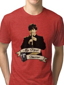 Doctor Who - My first Doctor (Who) Second 2nd Patrick Troughton Tri-blend T-Shirt