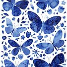 Blue Butterflies by Nic Squirrell