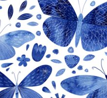 Blue Butterflies Sticker