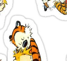 Calvin and hobbes till death Sticker