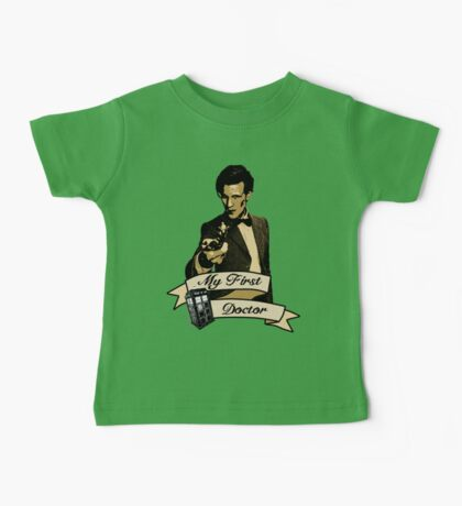 Doctor Who - My first Doctor (Who) Eleventh 11th Matt Smith Baby Tee