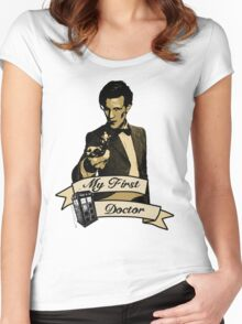 Doctor Who - My first Doctor (Who) Eleventh 11th Matt Smith Women's Fitted Scoop T-Shirt