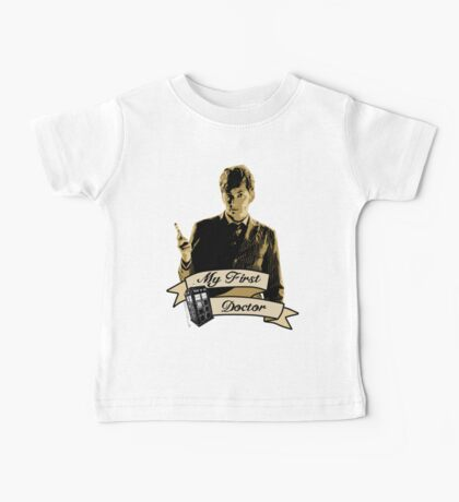 Doctor Who - My first Doctor (Who) Tenth 10th David Tennant Baby Tee
