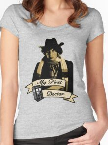 Doctor Who - My first Doctor (Who) Fourth 4th Tom Baker Women's Fitted Scoop T-Shirt