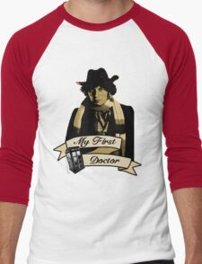 Doctor Who - My first Doctor (Who) Fourth 4th Tom Baker Men's Baseball ¾ T-Shirt