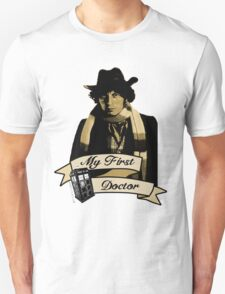 Doctor Who - My first Doctor (Who) Fourth 4th Tom Baker Unisex T-Shirt