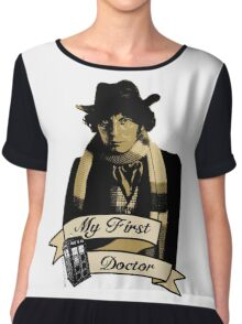 Doctor Who - My first Doctor (Who) Fourth 4th Tom Baker Chiffon Top