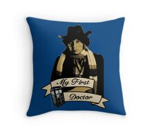 Doctor Who - My first Doctor (Who) Fourth 4th Tom Baker Throw Pillow