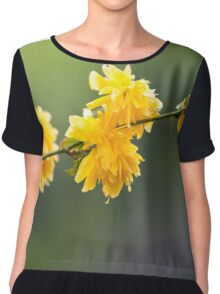 Yellow flowers Chiffon Top