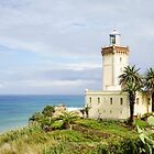 Lighthouse at the Strait of Gibraltar - Tangier by Robert Kelch, M.D.