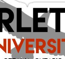 Carleton with Raven Sticker