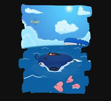 Surfing on a mantine T-Shirt