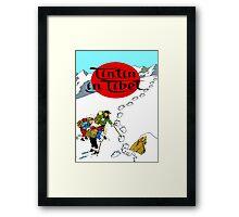 Tintin in Tibet Framed Print