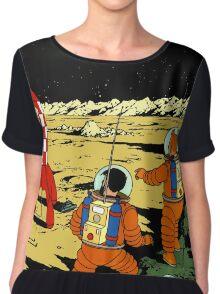 Tintin in Space Chiffon Top