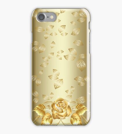 Gold Rose iPhone Case/Skin