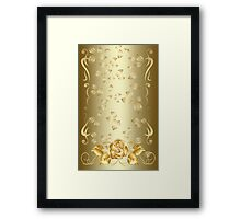 Gold Rose Framed Print