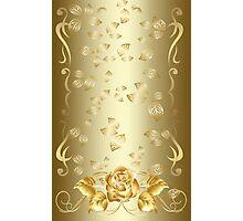 Gold Rose Photographic Print