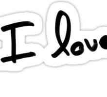 PS : I love you Sticker