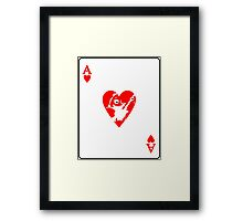 Ace Frehley playing card Framed Print