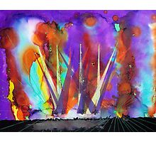 Live Concert Rock n Roll Light Show Painting Photographic Print