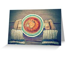 Fox Tea Greeting Card
