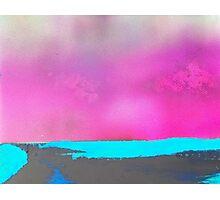 Neon Beach Photographic Print