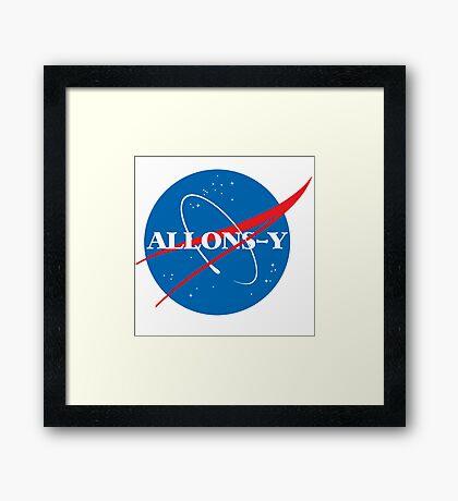 Allons-y NASA logo Framed Print