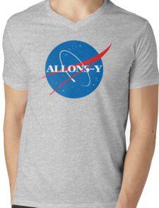 Allons-y NASA logo Mens V-Neck T-Shirt