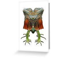 Iguana reflection Greeting Card