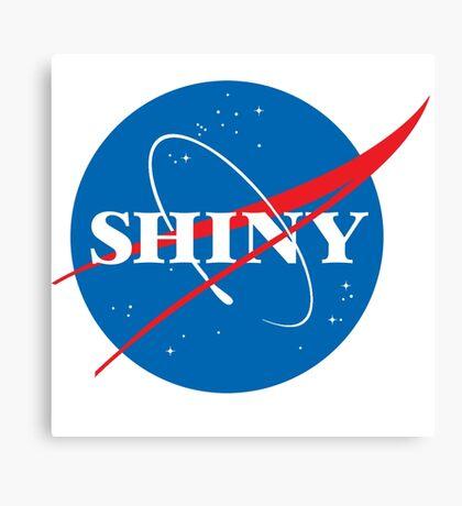 Shiny - NASA logo Canvas Print