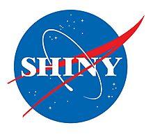 Shiny - NASA logo Photographic Print