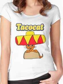 Taco Cat Women's Fitted Scoop T-Shirt