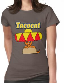 Taco Cat Womens Fitted T-Shirt