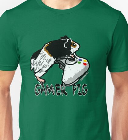 Guinea pig video gamer Unisex T-Shirt