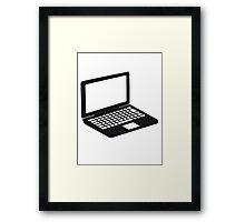 laptop notebook tablet computer pc mobile screen Framed Print