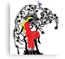 The Blue Bird and The Princess Canvas Print