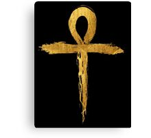 Ankh Symbol - Gold Edition Canvas Print