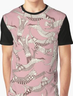 cat party pink Graphic T-Shirt