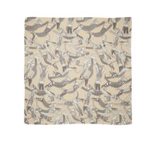 cat party beige natural Scarf